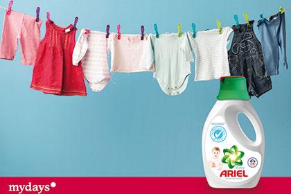 Sanfte Wäschepflege mit dem neuen Ariel Baby Flüssigwaschmittel