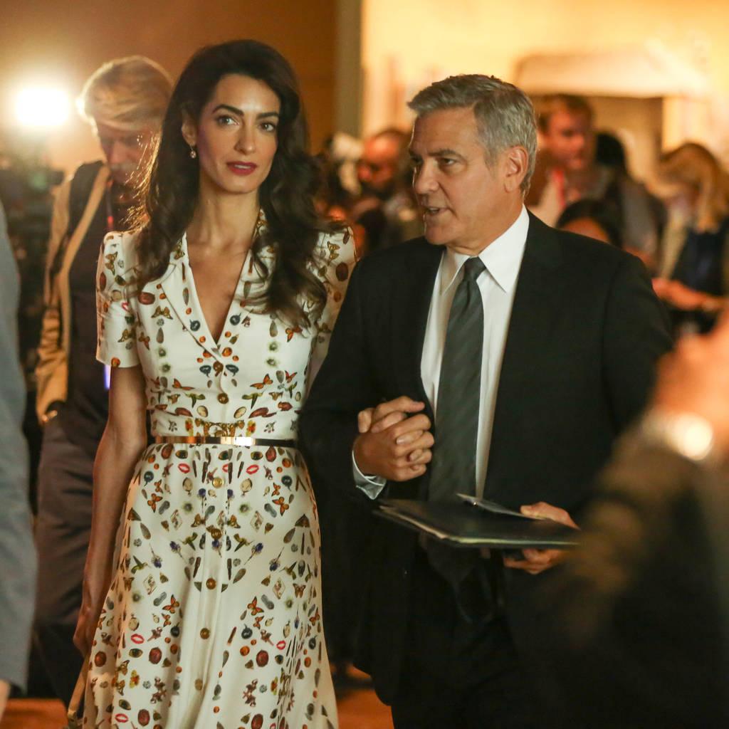 Bild von George und Amal Clooney