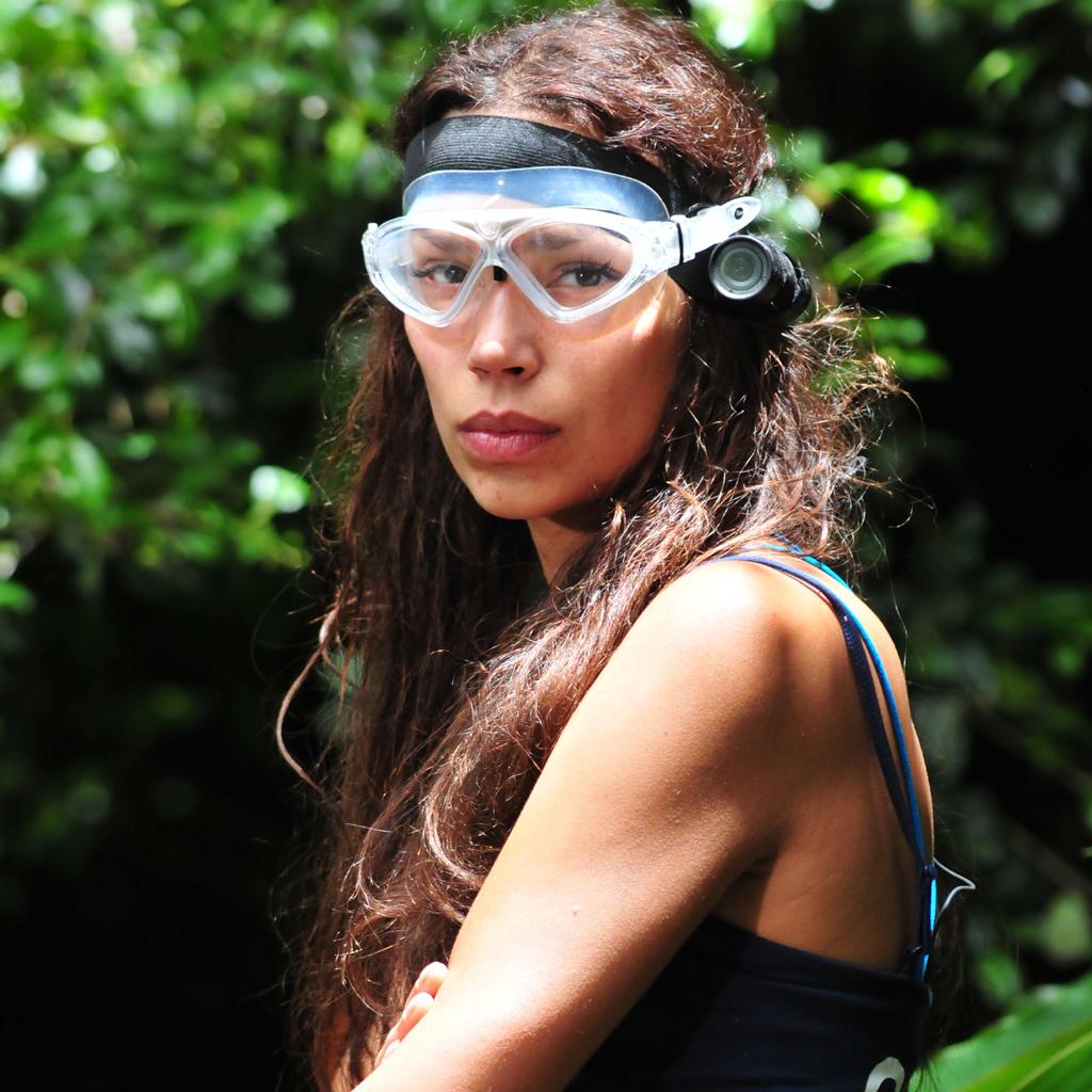 Bild von Gisele Oppermann auf dem Weg zum Dschungelrekord